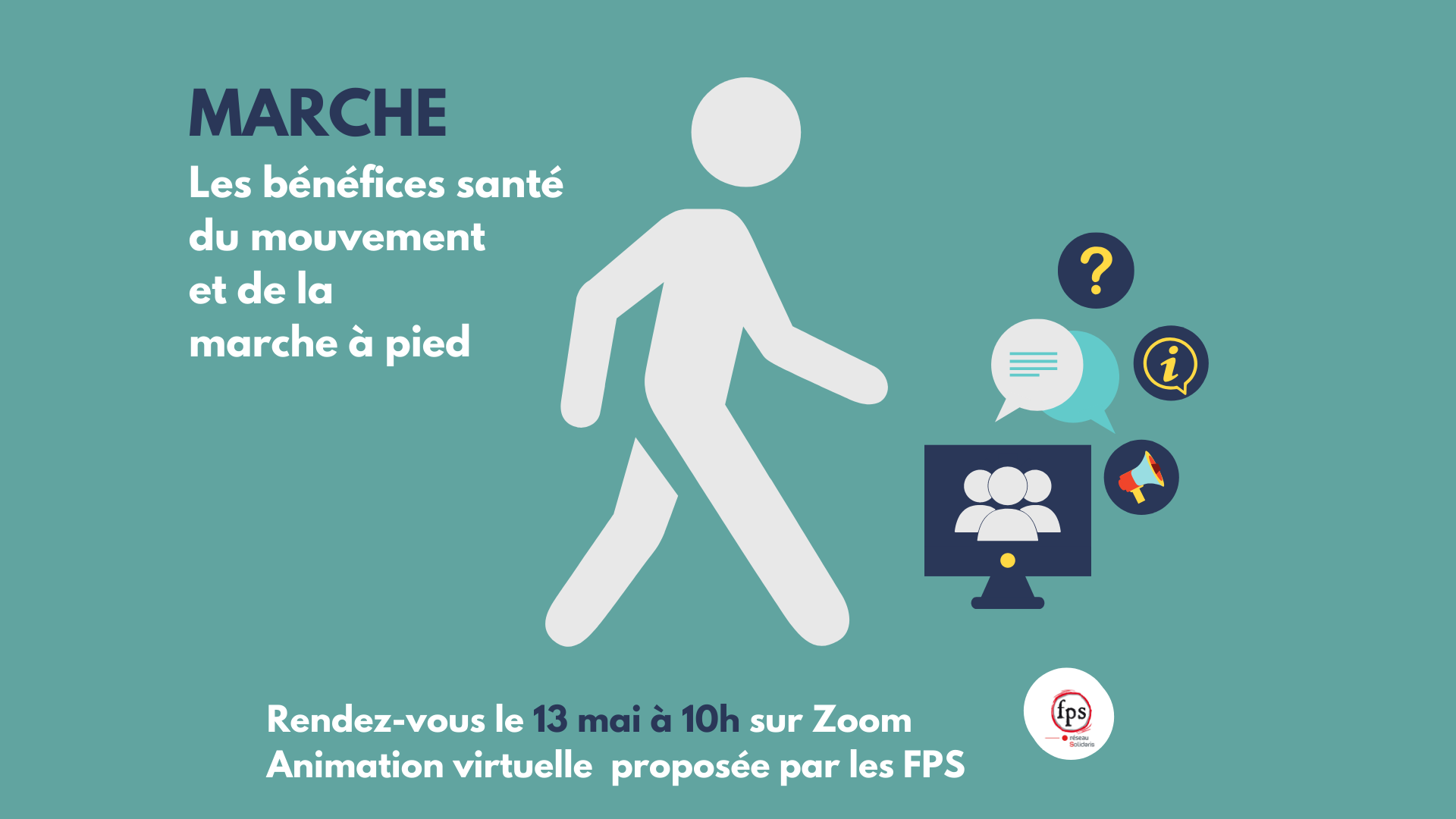 Animation virtuelle marche